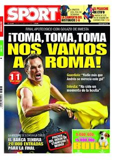 portada del Sport tras el robo de Ovrebo
