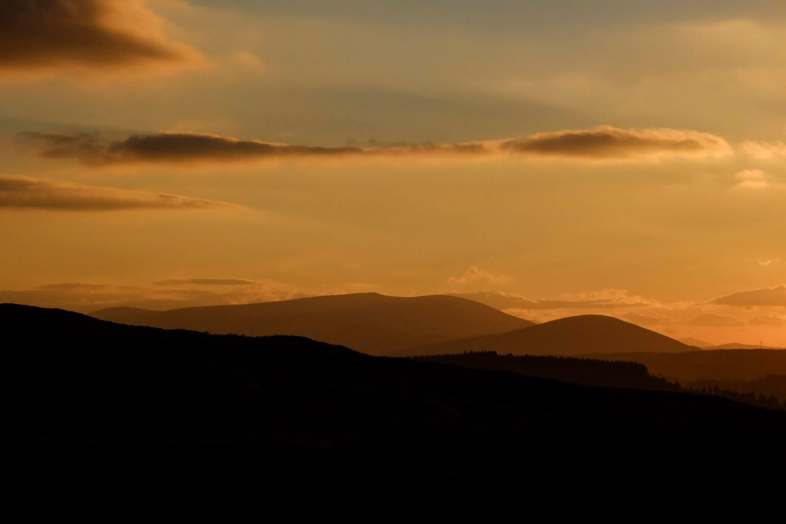 Sunset in the Boggeragh Mountains, Co.Cork.