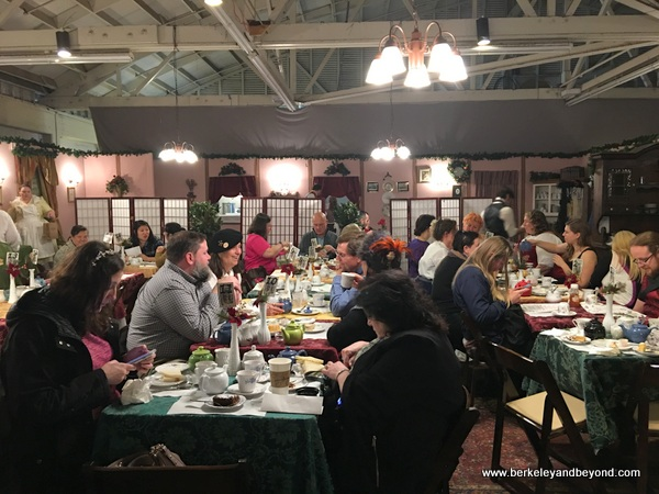 tea time at The Great Dickens Christmas Fair in San Francisco