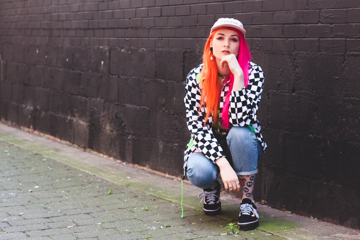 Alternative Fashion Blogger Foxxtailz Styles Cute Mistake Checkerboard Jacket