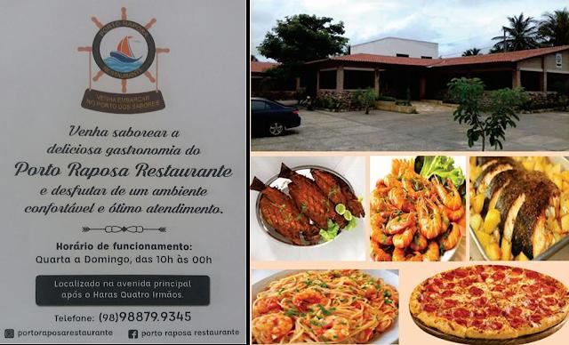 PORTO RAPOSA | Um dos melhores restaurantes da Ilha de São Luís - Visite e confira