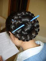 very long hair Big Braided Bun hairstyles images