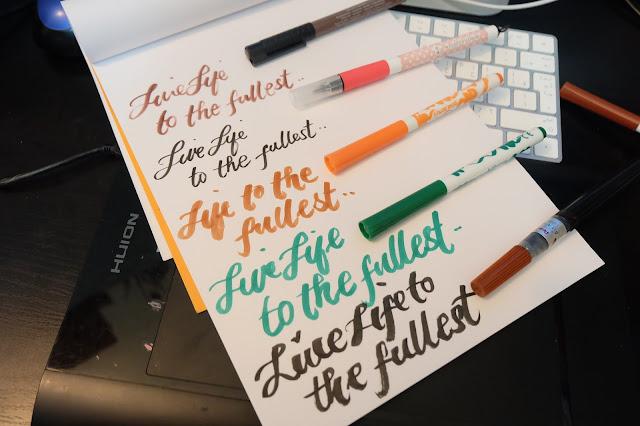 Nattosoup studio art and process brush pen review tombow