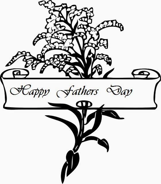 Happy Fathers Day 2017 flower coloring picture