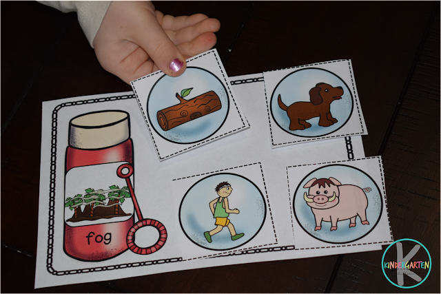 fun word families practice for preschool, kindergarten, first grade