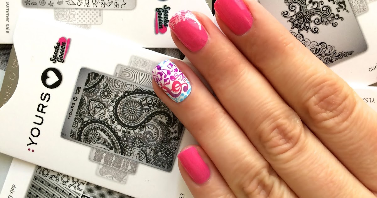 Trendy Nail: Gradient Music Nailart e preview Yours Cosmetics
