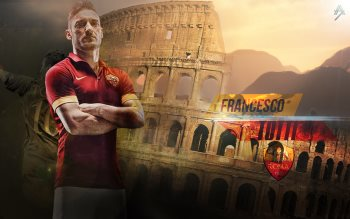Wallpaper: Francesco Totti & Cristiano Ronaldo