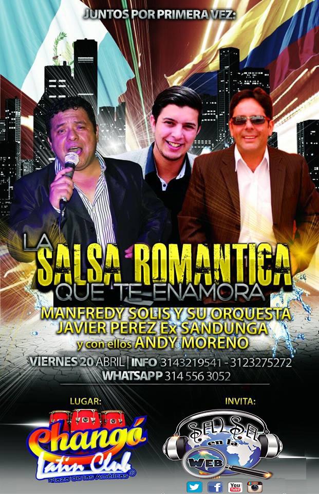 ► Manfredy Solis, Christhian Fernández y Andy Moreno en Concierto.