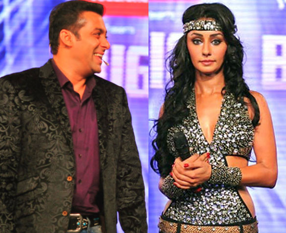 Salman Khan and Mahek Chahel