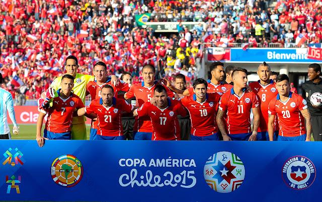 Formación de selección chilena en final de Copa América 2015