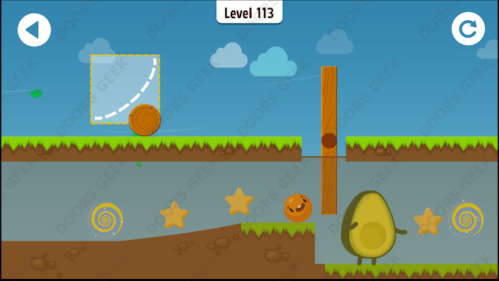 Where's My Avocado? Level 113 Solution, Cheats, Walkthrough, 3 Stars for Android, iPhone, iPad and iPod