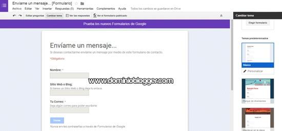 Como crear formularios en Google