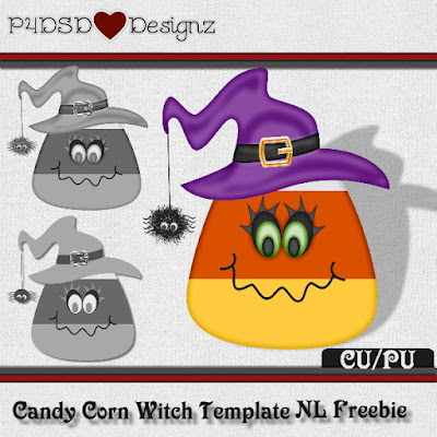 Candy Corn Witch Template Freebie Template
