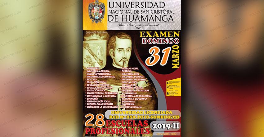 Admisión UNSCH 2019-2 (Examen Ordinario 31 Marzo) Inscripción Universidad Nacional de San Cristóbal de Huamanga - www.unsch.edu.pe