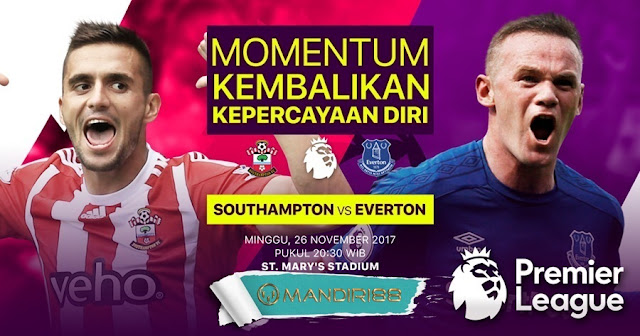 Prediksi Bola : Southampton Vs Everton , Minggu 26 November 2017 Pukul 20.30 WIB