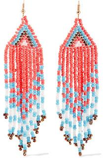 Make a splash in these statement earrings - Beaded Tassel Earrings - Kenneth Jay Lane - Jewellery Summer Holiday