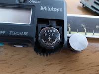 ミツトヨCD-15CデジタルノギスSR44酸化銀電池