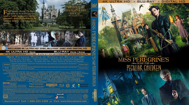 Miss Peregrines Home For Peculiar Children 4k Bluray Cover