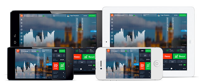 Mobile broker application IQ Option