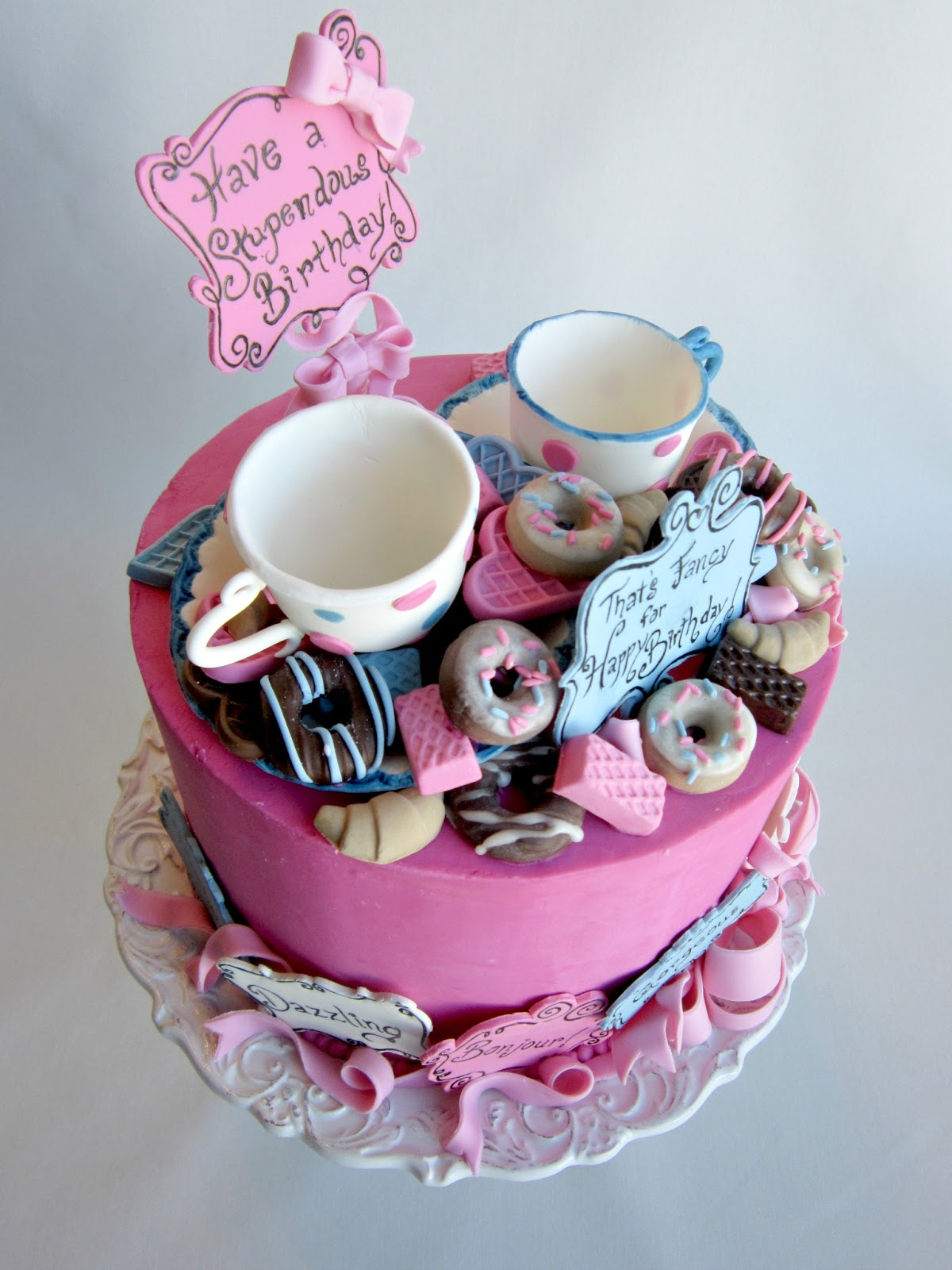 Delectable Cakes Most Stupendous Fancy Nancy Birthday Cake