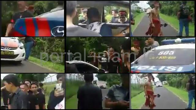 Sekelompok Pemuda Bersenjata Berani Razia Mobil Polisi, Netizen: Harga Diri Polisi Sudah Gosong!!