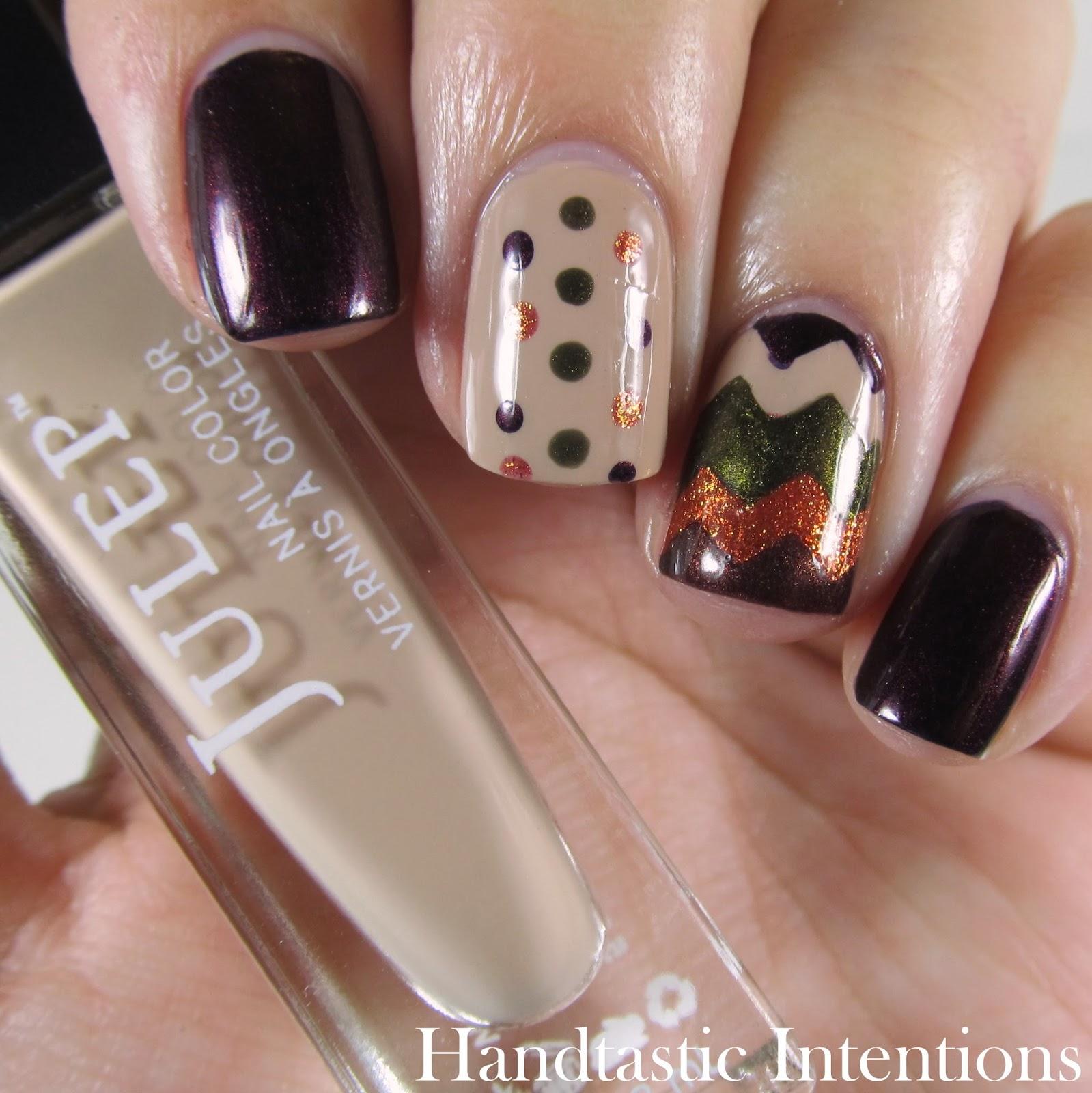 Handtastic Intentions: Fall Chevron Nail Art