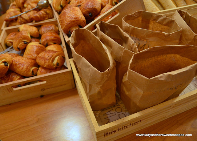 croissants at Ibis Paris Hotel