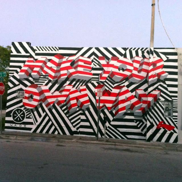 """Make Your Own Way"" New Street Art Piece by British Urban Artist INSA for Art Basel Miami 2013. 2"