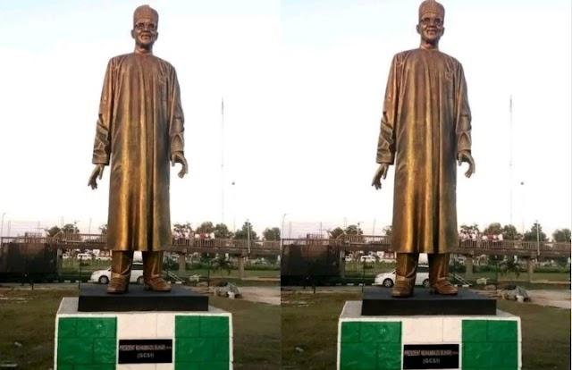 Rochas Okorocha Unveils Buhari Statue In Imo State