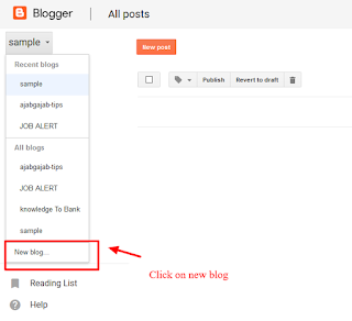 Blogger Tips ~ Make a New BLOG with Blogger