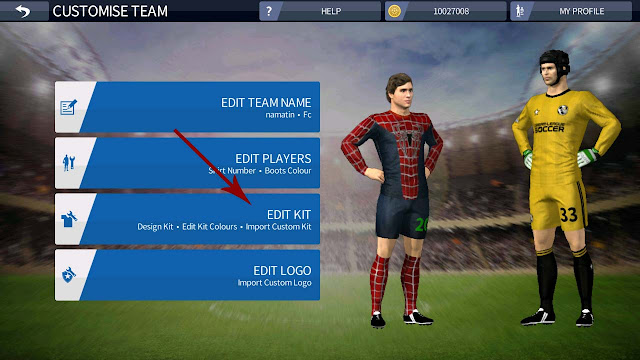 cara import kit dream league soccer