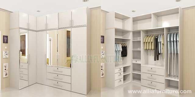 lemari pakaian sudut unit cabinet