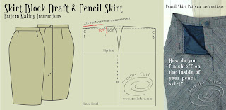 Cut your own sewing patterns for skirts using my skirt blog and my well-suited pattern puzzle posts.