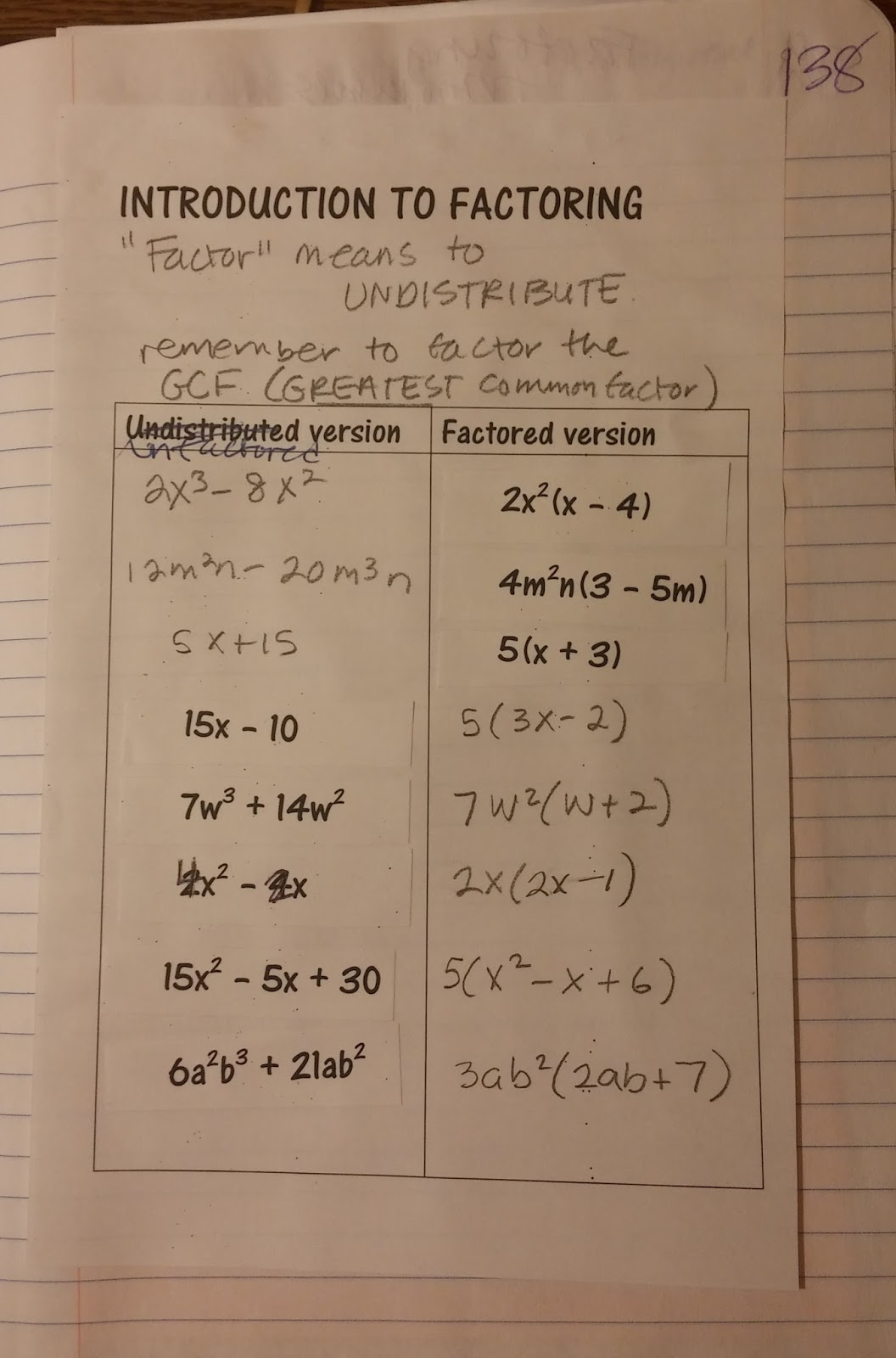 Beautiful Math Factoring Polynomials Algebra One