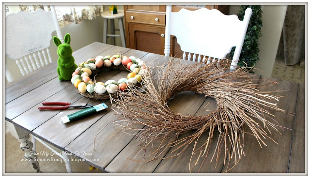 From My Front Porch To Yours- Easter Wreath-Grapevine Wreath
