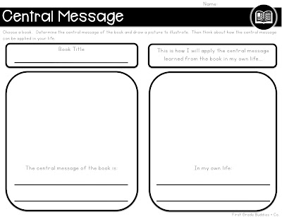 graphic organizers for any book first grade buddies