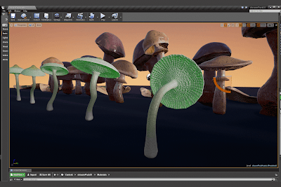 Realistic mushroom models accurately based on existing species help increase the realism and beauty of natural environments. This pack includes 50 individual mushroom models based on five different species ready to use in game. Sample level includes PBR materials for each of the five species with 2K texture maps for base color, normal, roughness, as well as an emissive texture for the bio luminescent species. Also included as a bonus are substance materials (sbsar format). To use, download and install the free Substance plugin then import the sbsar files from the shroomPack01/bonus/substance folder. Assign the substance material to the corresponding mushroom model and use the dynamic controls to adjust wetness, raindrop size, dirt cover, dust cover, color properties, and bio luminescent colors and quality (glowingManipularis model only). Also included base mesh as an obj with quadrilateral polygons.