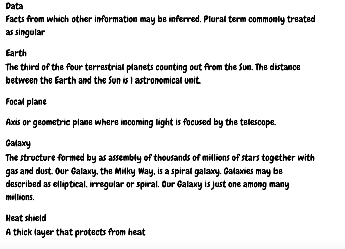 Science Glossary pt 1