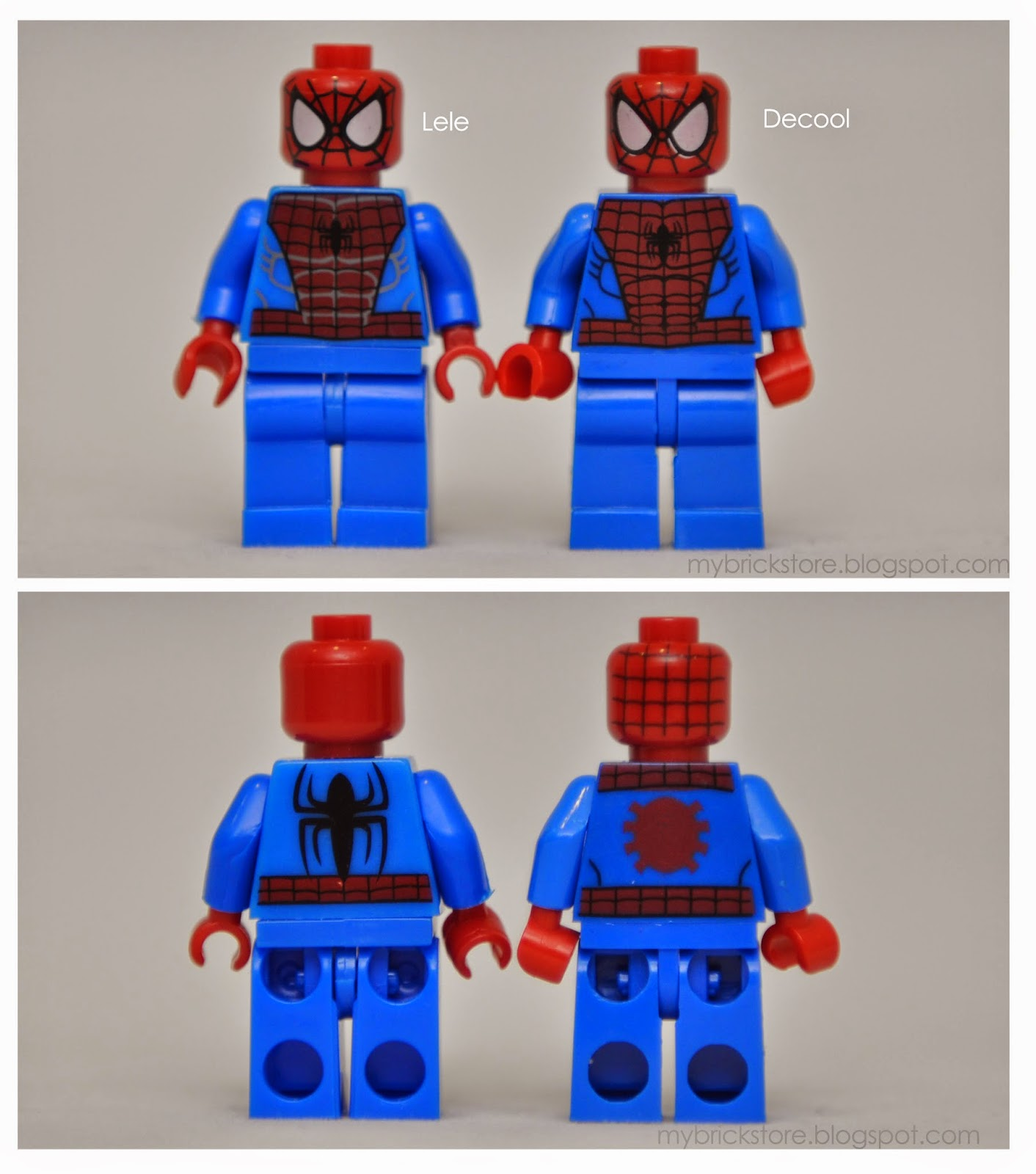 my brick store lego spiderman original vs imitation now and then