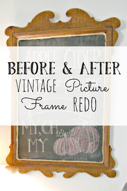 Vintage Picture Frame Chalk Board
