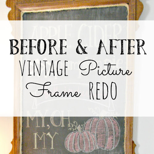 Before and After - Vintage Picture Frame Redo