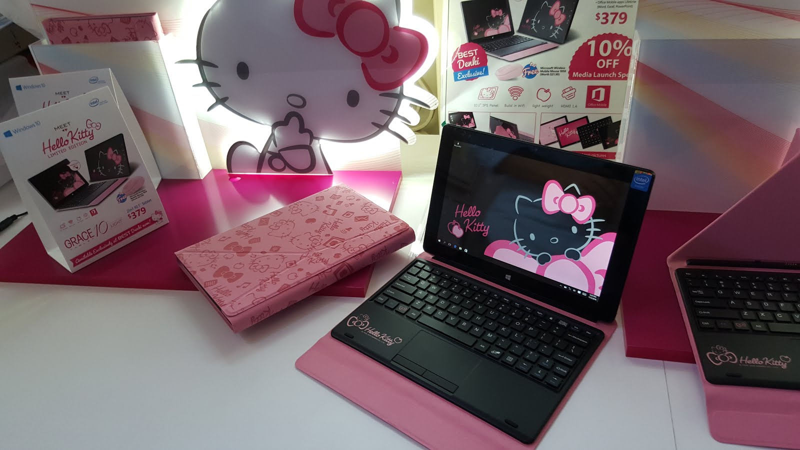 b208e6e79 Developed by E-Huge Technologies, the device is the first Sanrio-themed  2-in-1 Windows 10 tablet from the brand's WMP Character Series that reaches  our ...