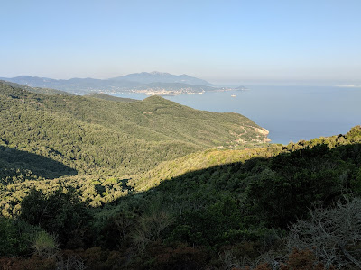 View toward Monte Capanne in the distance - the highest point on Elba at 1019 m (3343 ft).