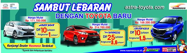 Promo Toyota Solo menyambut Lebaran 2016