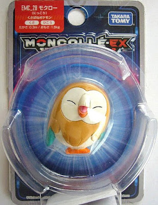 Rowlet figure alternative pose Takara Tomy Monster Collection MONCOLLE EX EMC series
