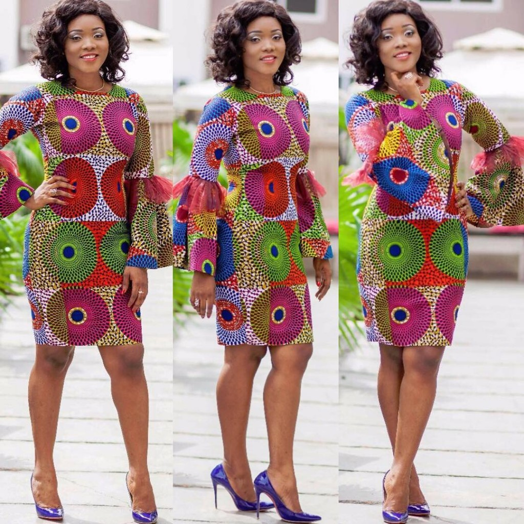 Simple Ankara Gown Design - DeZango Fashion Zone