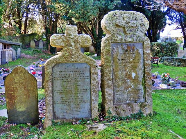 Gravestones from the 1830s in Padstow, Cornwall