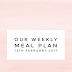 Our weekly meal plan - 13th February 2017