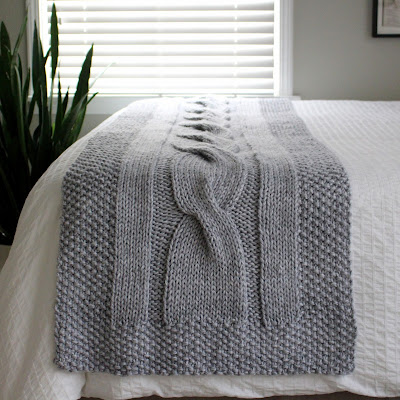 Fifty Four Ten Studio River Of Dreams New Chunky Cable Bed Runner