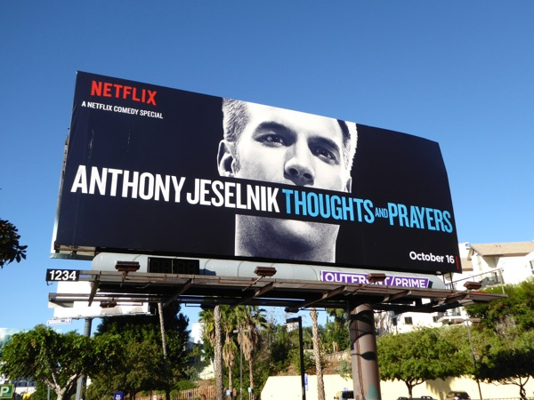 Anthony Jeselnik Thoughts and Prayers billboard